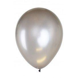 Ballonnen 12 inch per 8 ZILVER METALLIC