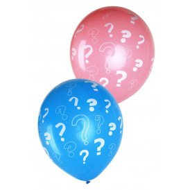 Ballonnen 12 inch per 8 Gender reveal roze + blauw ????