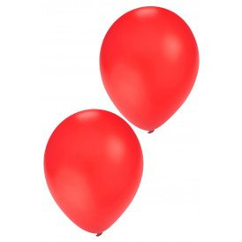 Helium ballon rood 10 inch per 50