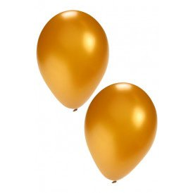 Helium ballon goud 10 inch per 50