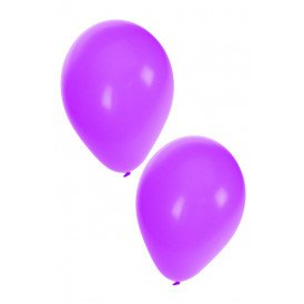 Ballon helium 50 x paars nr 10