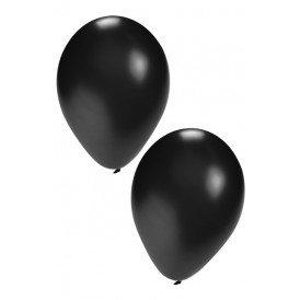 Ballon helium 50 x zwart nr 10