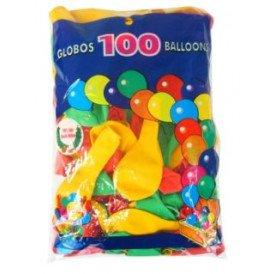 Ballonnen rood/geel/groen helium per 100 mt 10