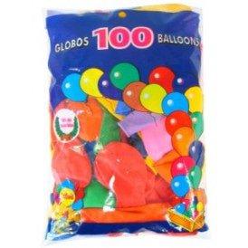 Ballon helium 100 x assortie mt 10 / 27cm