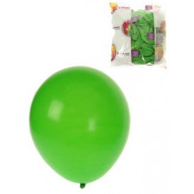 Ballon helium 100x groen mt 10