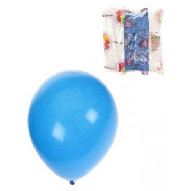 Ballon helium 100x blauw mt 10