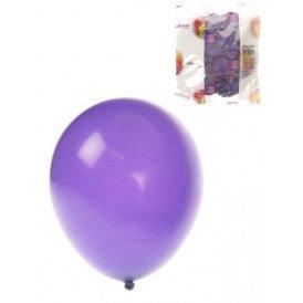 Ballon helium 100x paars mt 10