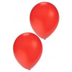 Helium ballon rood 10 inch per 100