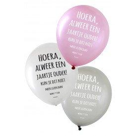 Ballon 6 x metallic 14 inch 3 ass Hoera