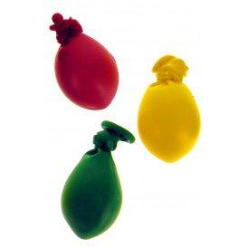 Mini ballonnen nr. 5 rood/geel/groen 50 st. mix