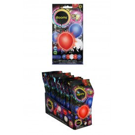 Led Balloons rood/wit/BL  5 pack