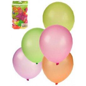 Ballon 50 x assortie kleuren neon mt 10