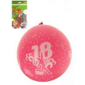 Ballon x 8 cijfer 18 full printed mt 12