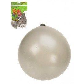 Ballon x 8 cijfer 25 full printed zilver mt 12