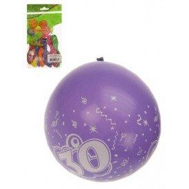 Ballon x 8 cijfer 30 full printed mt 12