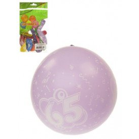Ballon x 8 cijfer 65 full printed mt 12