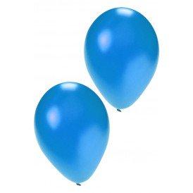 Kwaliteitsballon metallic blue per 50 mt 14 / 36 cm