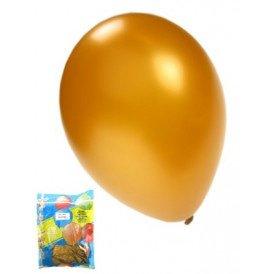 Kwaliteitsballon metallic goud per 50 mt 14/36cm