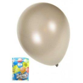 Kwaliteitsballon metallic zilver per 50 mt 14/36cm