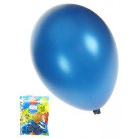 Kwaliteitsballon metallic blauw per 50 mt 14/36cm