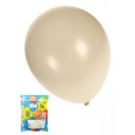 Kwaliteitsballon metallic wit per 50 mt 14/36cm
