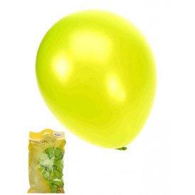 Kwaliteitsballon metallic appelgroen per 50 mt 14/36cm
