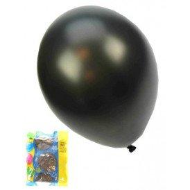 Kwaliteitsballon metallic zwart per 50 mt 14/36cm