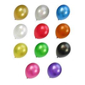 Kwaliteitsballon metallic assortie kleur per 50 mt 14/36cm