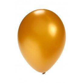 Ballon metallic goud 5 inch  100 stuks