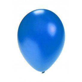 Ballon metallic Blauw  5 inch  100 stuks