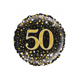 Folie-ballon 18 inch 45.7 cm Sparkling 50Holograpic