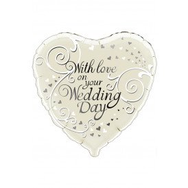 Folie-ballon 18 inch 45.7 cm With love on your Wedding Day