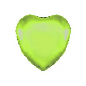"Folie ballon Hart 18 45.7 cm lime groen"""