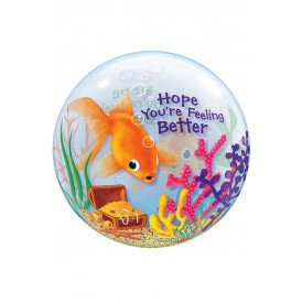 Single BUBBLE balloon 22 inch Feeli