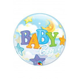 Single BUBBLE balloon 22 inch Boy