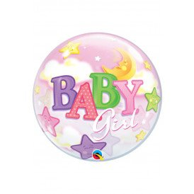 Single BUBBLE balloon 22 inch Girl