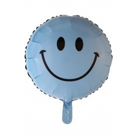 "Folie ballon 18 "" Smile baby blue"