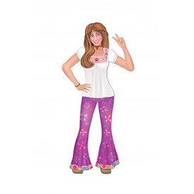 Hippie vrouw deco karton 89 cm