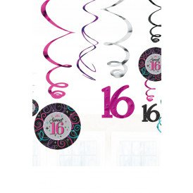 Swirl Decoration 12x Sweet 16