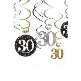 Swirl Decoration  Happy Birthday 30
