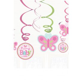 Swirl Decoration 12xWelcome Baby Girl