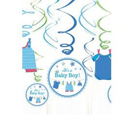 Swirl Decoration 12xIt's a Baby Boy