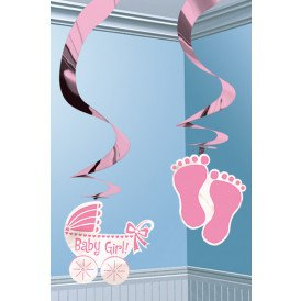 Swirl Decoration 12xIt's a Baby Girl