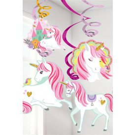 Swirl Decoration 12 x Unicorn