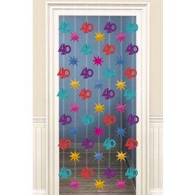 Doorway Danglers 200 cm 40 jaar
