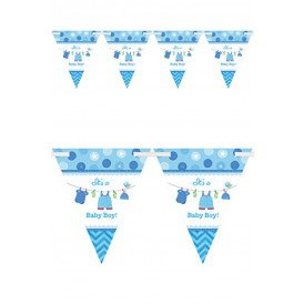Pennant Banner It's a Baby  Boy 24 pennants +4.57 m ribbon