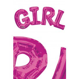 Anagram SuperShape Phrase Foil Balloon GIRL 55 x 25 cm