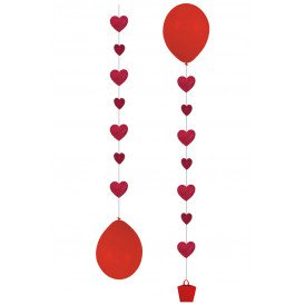 "Balloon Tails 3 x Hearts"" 1 m"""