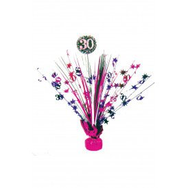 Tafel deco Sparkling pink 30
