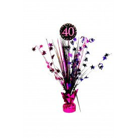 Tafel deco Sparkling pink 40